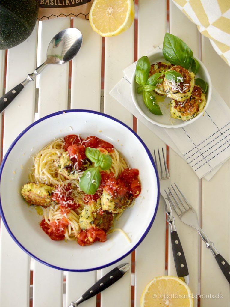 Gemüsebällchen mit Pasta