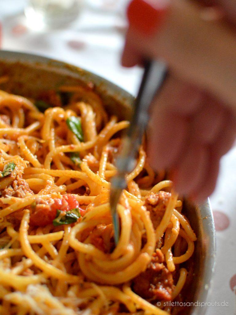 Spaghetti al Ragu di Salsiccia