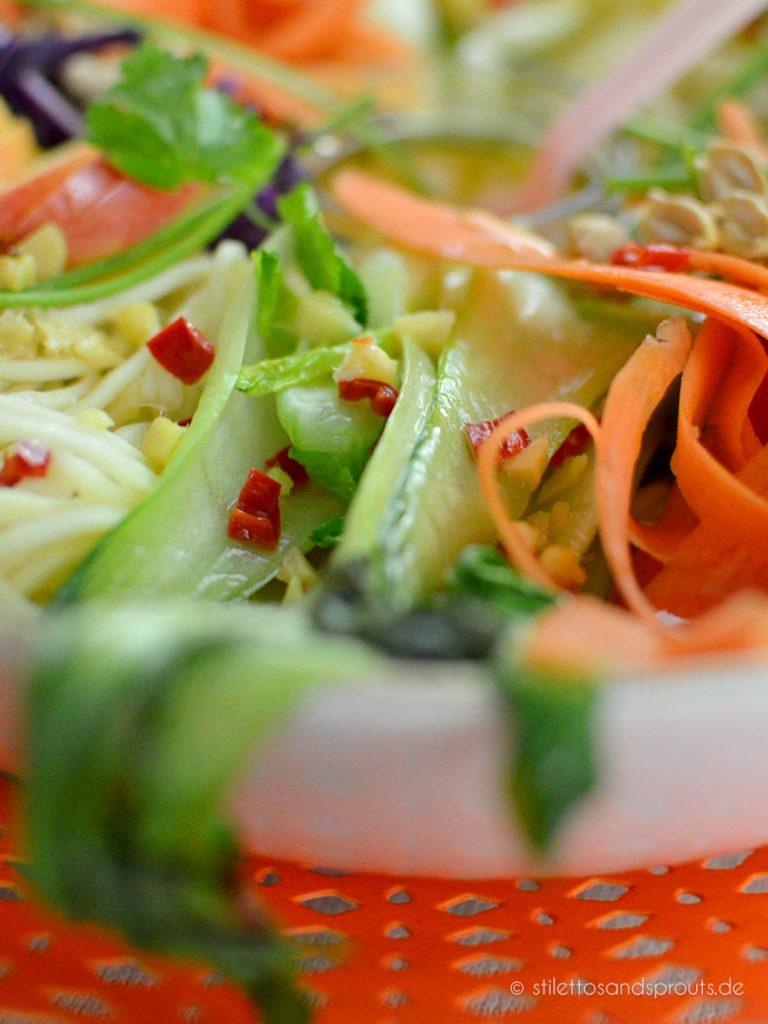 Thailändische Nudeln vegan